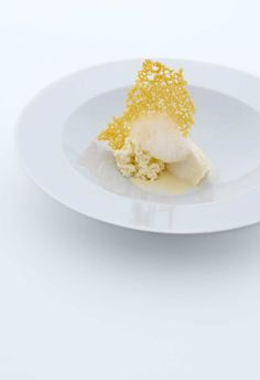 """""""Dinner at Osteria Francescana: Five ages of Parmigiano Reggiano, each with a different texture and temperature. It consisted of a soufflé of 24 month old parmesan, a crisp galette (40 months), an 'air' (40 months and 50 months), a foam (30 months), and a creamy sauce (36 months)"""" - """"Day trip to Modena"""" by @ciao bologna"""