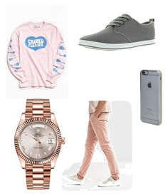 Rose and gray-male by natalie1027 on Polyvore featuring polyvore, Urban Outfitters, ASOS, Arider, Rolex, Incase, men's fashion, menswear and clothing