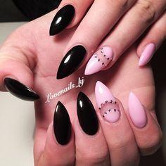 #newnails #notd #nails #naglar #lovenails_kj #lovenails #naildesign #nailart #nailstagram #instanails #instafashion #instagood #girlynails #gelnails #goodlife #diamonds #blacknails #rosé #rosa #style #nailbar @morgenthal5