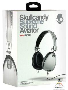 Skullcandy headphone aviator rocnation s 6 AVFM - 158 white super quality original Running Headphones, White Headphones, Bluetooth Headphones, Beats Headphones, Over Ear Headphones, Skullcandy Headphones, Headphone With Mic, White Brand, Aviation