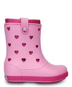 Take a look at this Carnation & Fuchsia Crocband™ Airy Hearts Boot by Crocs on #zulily today!