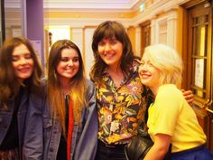 Stina (Honeyblood), Pippa, Courtney, Shona (now ex-Honeyblood) at Islington Assembly Hall, May 2015.  sadly out of focus.