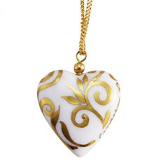 Personalized Porcelain Heart Necklace from Exception Collection #giftforher #french #jewelry #handmade #handpainted #paris #personalized