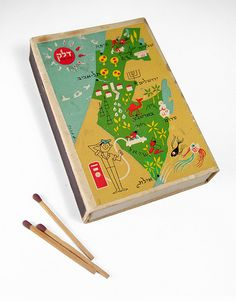 Match box with map of Israel