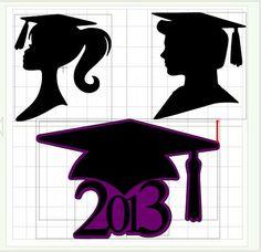 grad silhouette image | Girl Graduate Silhouette Ken and barbie graduate