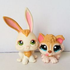 Littlest Pet Shop Brown Tan Cream Pink Husky Puppy Baby 1013 Bunny 322 Adoption #Hasbro