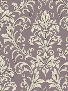 A stunning lilac damask wallpaper from the book Graystone Estate at AmericanBlinds.com #wallcovering