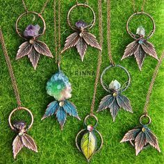 Some new electroformed pendants ^^