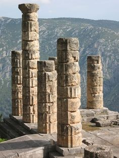 Temple of Apollo at Delphi. (SIte of the Oracle)