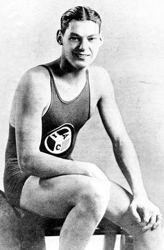 Johnny Weissmuller USA winner of 5 Olympic gold medals in the 1920's and Tarzan