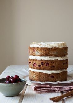 Cranberry Pear Cake | Style Sweet CA