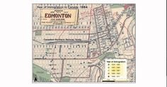 Year of Immigration to Edmonton: The data used in this animation is based on the Alberta 1911 micro census that was digitized as part of the Alberta Land Settlement Infrastructure Project. Immigration Canada, Animation, Culture, Technology, Projects, Tech, Tecnologia, Engineering