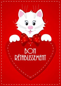 Bon Rétablissement #bonretablissement chat coeur convalescence                                                                                                                                                                                 Plus Happy Friendship Day, Bon Weekend, Punch Art, Minnie Mouse, Messages, Christmas Ornaments, Holiday Decor, Cards, Recherche Google