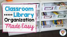 Keep your classroom library neat and organized using these great suggestions and book labels from TpT Teacher-Author Create-Abilities! Classroom Library Labels, Classroom Design, Classroom Ideas, Teaching Tools, Teaching Resources, Teaching Ideas, Preschool Ideas, Library Organization, Organization Ideas