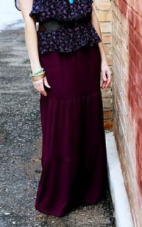 Tutorial: Tiered maxi skirt · Sewing | CraftGossip.com