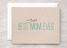 Mother's Day Card Birthday Card  Best and by HappyDappyBits, $4.00