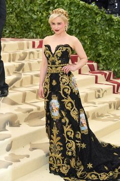 "This year's MET Gala theme is ""Heavenly Bodies: Fashion and the Catholic Imagination."" Dolce&Gabbana dress."