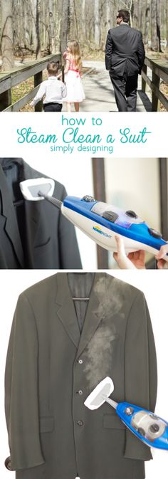 how to Steam Clean a Suit - it is really so simple to do this yourself at home | Simply Designing