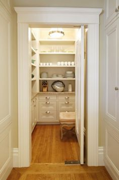 And honey, this is why we need the kitchen/family room expansion; I can turn the mudd room into a cool butler's pantry!