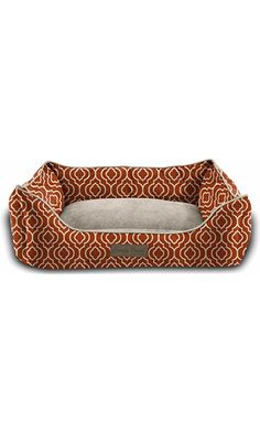 Pet Trendy Modern Chic Trellis Thick Bolstered-Microfiber Machine-Washable Pet Bed for Dog and Cat, 27-Inch x 35-Inch x 9-Inch, Spice Best Price