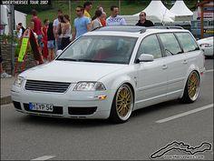 passat wagon rims   White VW Passat Wagon on BBS wheels at the Wörthersee Tour 2007 ...