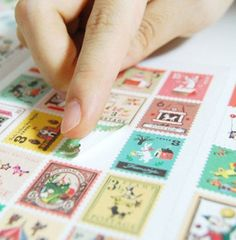 Vintage stamp stickers Francios/Okey Tina diary notebook stickers travel  journal stickers home deco stickers