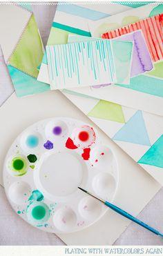 Watercolor drip art.