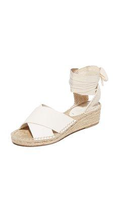 Soludos Crisscross Demi Wedge Sandals