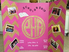 Panhellenic Sorority Recruitment Tri-fold Board!!