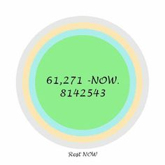 Rest NOW!  61,271  Rest (this code benefits the physical body)  Sacred Codes  Sometimes you just wish to rest, not sleep. a little break from the duties maybe, or just want to sit someplace and rest for a while. Either drink the charged water or repeat the Sacred Code 61271 ..45 times.  61,271  Rest (this code benefits the physical body)  Sacred Codes The Number for OCD helps to LIMIT the chatter that goes on in your mind. 8142543  Rest NOW!