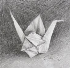 Origami paper drawing