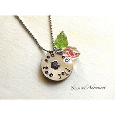 Moana Necklace, Hand Stamped Necklace, How far I will go, Hawaiian... ($25) ❤ liked on Polyvore featuring jewelry, necklaces, leaf necklace, leaf charm, hawaiian flower necklace, charm necklaces and leaves necklace