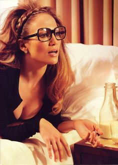 j.lo/ hair and glasses