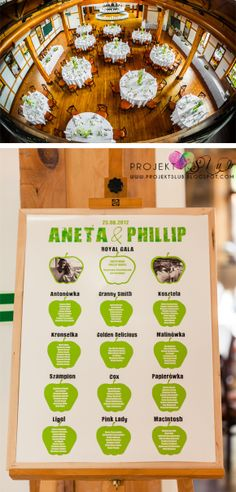 Design Wedding - Wedding Invitations, original, unusual decorations and accessories for the wedding: Wedding accessories with green apple th ...