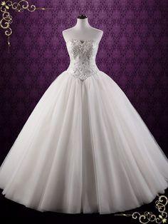Fairy Tale Lace Ball Gown Wedding Dress | Bella