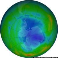 Ozone hole slightly smaller than average this year, according to NASA
