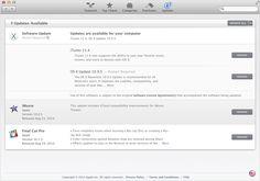 Oppdateringer-panelet i Mac App Store