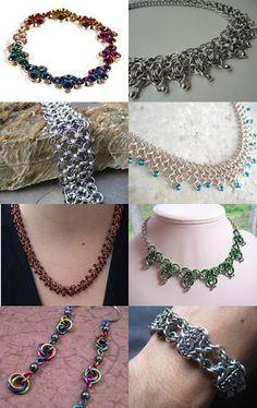 Beautiful Chainmaille Jewelry Treasury-- pinned via treasurypin.com