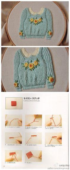 有意思~!incredible ceylon stitch