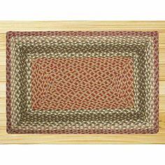 """EarthRugs C-24 Olive/Burgundy Rug Rug Size: 27"""" x 45"""" by Earth Rugs. $51.70. 23-024 Rug Size: 27"""" x 45"""" Features: -Technique: Braided.-Material: Jute.-Origin: Bangladesh. Construction: -Construction: Handmade. Color/Finish: -Color: Olive, Burgundy, Gray. Dimensions: -Pile height: 0.2''."""