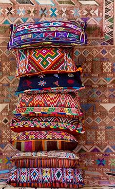trend alert - colorful tribal inspired throw pillows