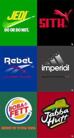 a little bit on the awesome side, These Star Wars logo mashups by Barn Bocock are...
