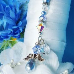 Something Blue Bouquet Charm Swarovski Lt. Blue Crystals and Pearls Wedding Bouquet Charms, Bridal Bouquet Blue, Charms Swarovski, Swarovski Crystals, Blue Crystals, Blue Pearl, Pearl Color, Something Blue Bridal, Crystal Wedding