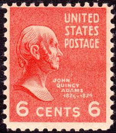 John Quincy Adams 1938 Issue-6c - U.S. presidents on U.S. postage stamps - Wikipedia, the free encyclopedia