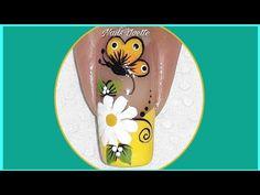 YouTube Toe Nails, Nail Tips, Pedicure, Nail Designs, Nail Art, Color Plata, Youtube, Flowers, Creative Nails
