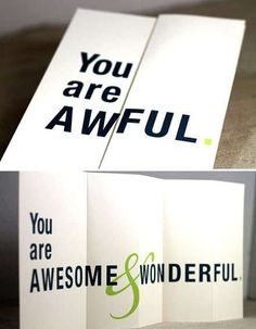 This Funny Greeting Card Initially Seems to Send a Mean Message trendhunter.com