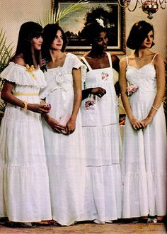 Prom looks of the 1970s - 70s Vintage Fashion... think mom made the one on the left!