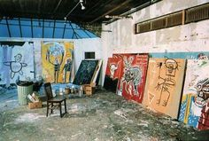 Basquiat's Studio One day, I wish I could have a space like he did....
