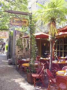 *Boudro's Texas Bistro - San Antonio Texas Riverwalk - great setting, food & service. Book ahead to eat dinner served to you while cruising in a riverboat.