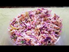 Δροσερή σαλάτα με λάχανο!! - YouTube Cabbage Salad, Greek Recipes, Celery, Salad Recipes, Carrots, Salads, Stuffed Peppers, Vegetables, Cooking